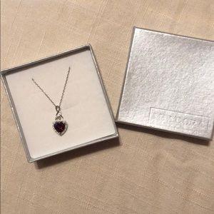 Miadora Ruby heart necklace